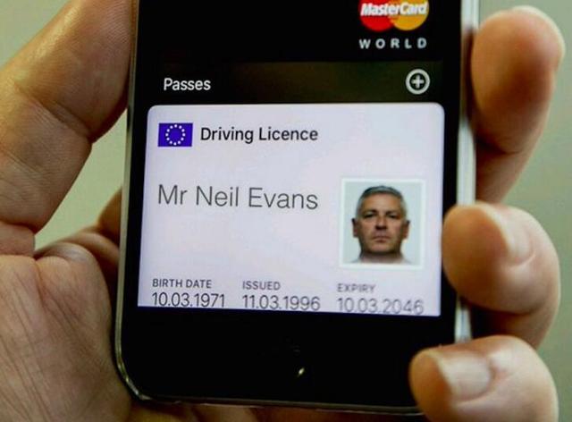"""英国政府开发电子驾照 可保存在苹果""""钱包""""应用中"""